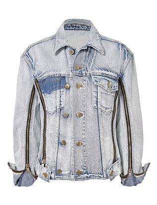 3.1 Phillip Lim Zippered Denim Jacket
