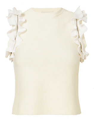 3.1 Phillip Lim Ruffle And Zip Knit Tank