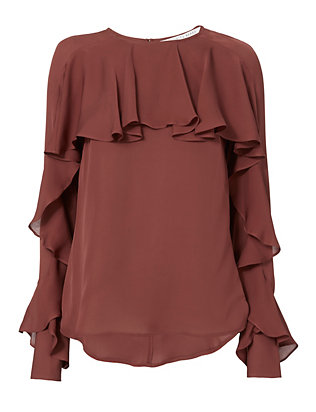 Veronica Beard Mia Ruffle Blouse