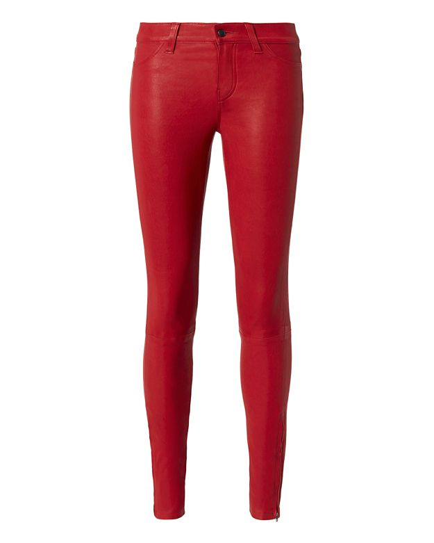 L'Agence Aurelie Leather Skinny Pants