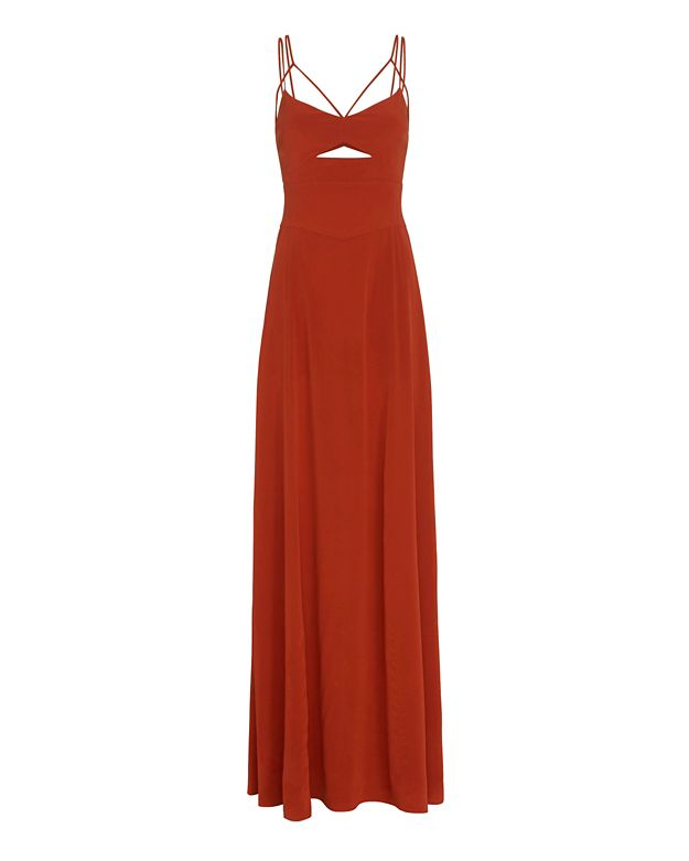 L'Agence EXCLUSIVE Elsa Multi Strap Cut Out Maxi Dress