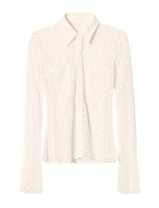 See By Chloe Lace Knit Blouse