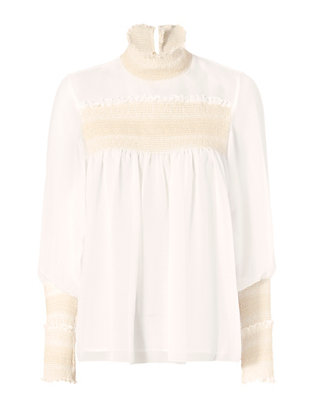 See By Chloe Smocked Neckline Blouse
