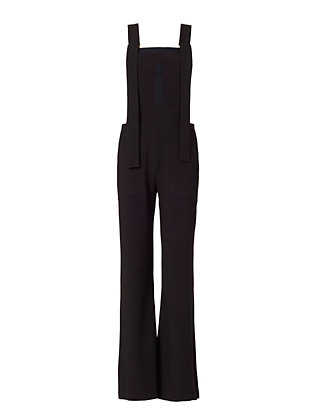 See by Chloe Stretch Crepe Overalls