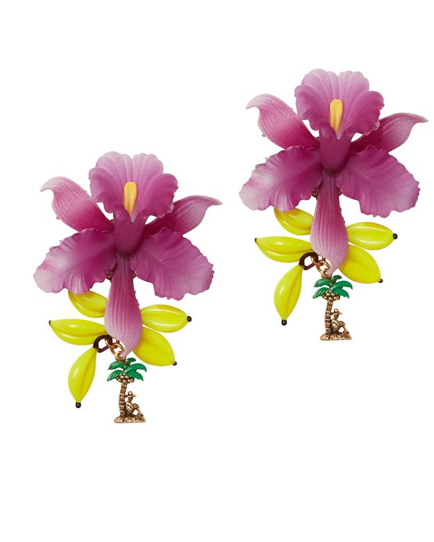 Erickson Beamon Flower Banana Earrings