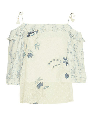 See by Chloe Tie Shoulder Printed Top
