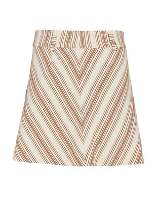 See By Chloe V Striped A-Line Mini Skirt