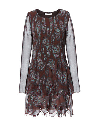 Paisley Pleated Dress