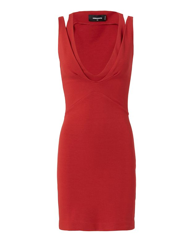 DSQUARED2 Split Sleeve Bodycon Dress