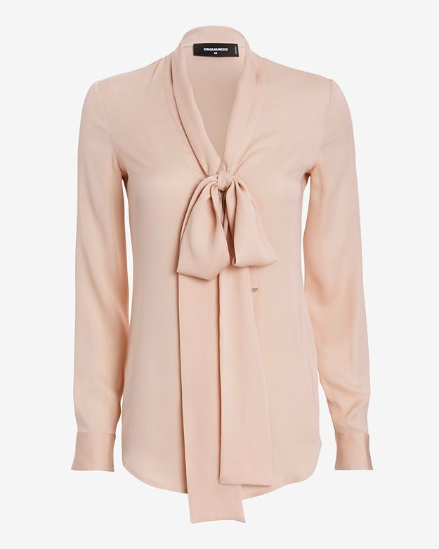 dsquared2-neck-tie-blouse by dsquared2
