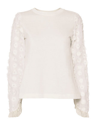 See By Chloé Floral Sleeve Tee