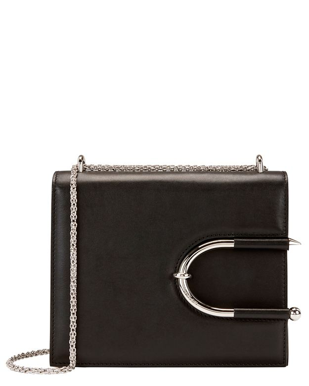 Mugler Horseshoe Detail Leather Shoulder Bag