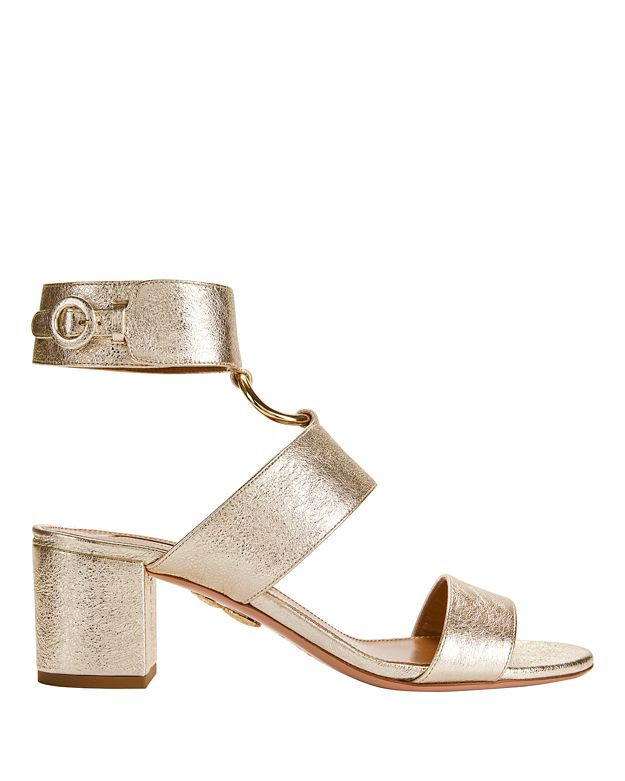 Aquazzura Safari Metallic Sandals