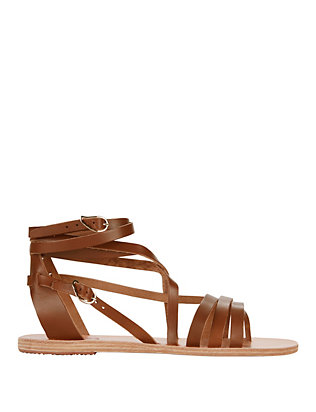 Ancient Greek Sandals Satiro Ankle Strappy Sandal: Brown