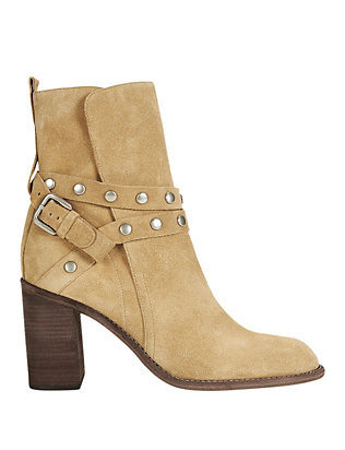 See By Chloe EXCLUSIVE Studded Wrap Around Strap Suede Bootie