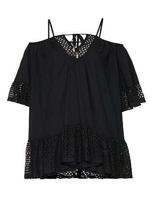 Suboo Off The Shoulder Tunic: Black