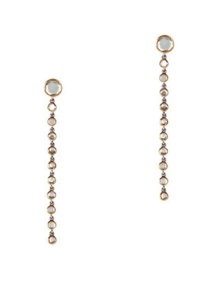 Grey Topaz Drop Earrings