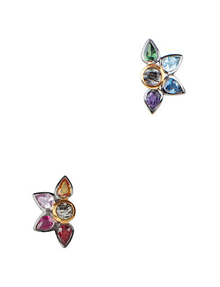 Sapphire Fan Stud Earrings