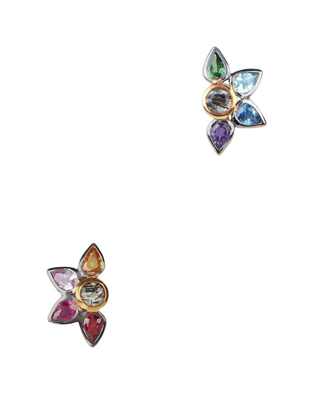 SheBee Sapphire Fan Stud Earrings