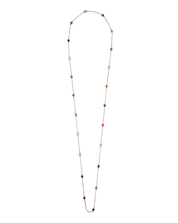 SheBee Multi Topaz Stone Long Necklace