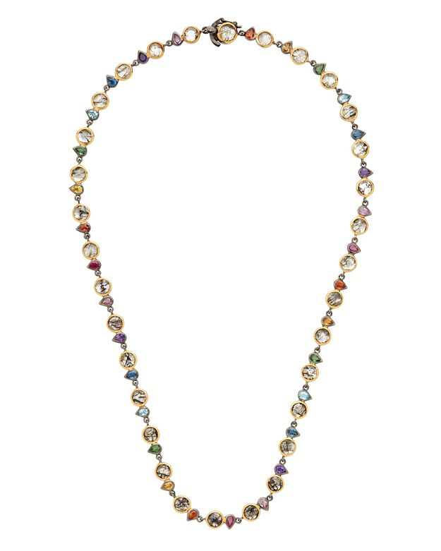 SheBee Multi Gemstone Necklace