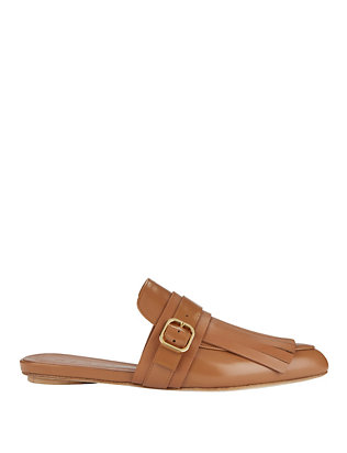 Marni Leather Loafer Slides