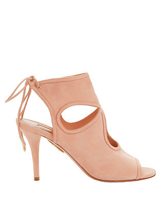 Sexy Thing Cut Out Pink Suede Sandals