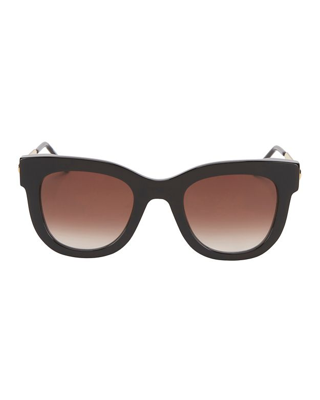 Thierry Lasry Sexxxy Metal/Acetate Sunglasses: Black