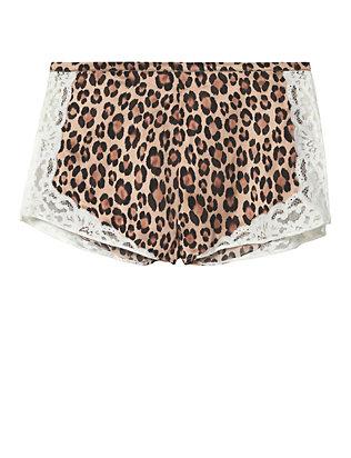 Charlotte Leopard Print Tap Shorts- FINAL SALE