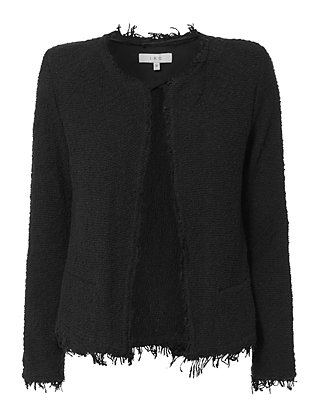 IRO Shavani Frayed Detail Collarless Jacket