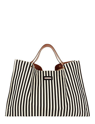 Marni Canvas Stripe Pattern Tote