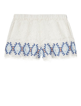 EXCLUSIVE Kea Lace Embroidered Short