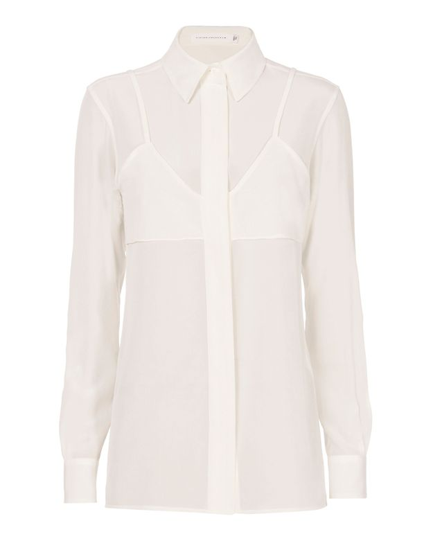 Victoria Beckham Double Layer Blouse