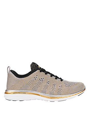 APL TechLoom Performance Sneaker: Silver/Gold