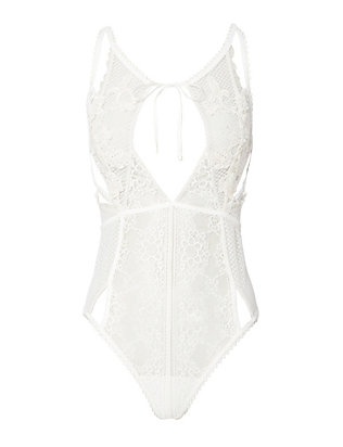 For Love & Lemons Cut Out Lace Bodysuit