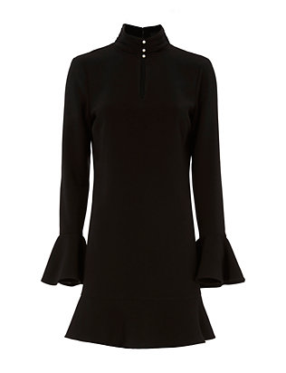 Exclusive for Intermix Kiki Faux Pearl Button Neckline Dress