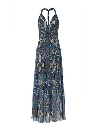 Exclusive for Intermix Mury Printed Chiffon Gown