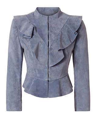 Exclusive for Intermix Benton Suede Ruffle Jacket