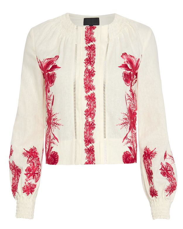 Exclusive for Intermix Rakeem Embroidered Linen Jacket