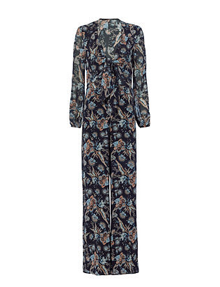 Exclusive for Intermix Lysette Front Knot Print Jumpsuit