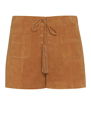 Exclusive for Intermix Sydney Lace-Up Suede Shorts