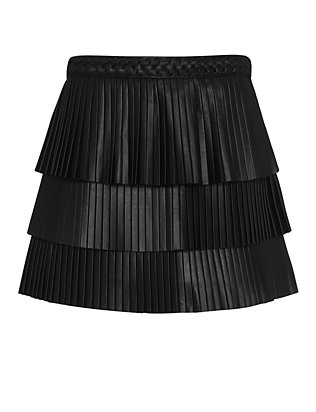 Exclusive for Intermix Farrah Pleated Leather Skirt