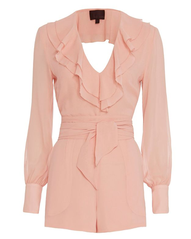 Exclusive for Intermix Genoa Romper: Blush