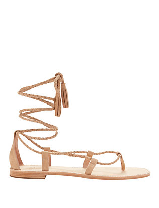 Joie Bailee Braided Lace-Up Suede Sandal