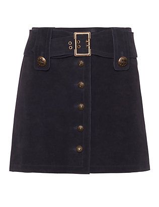 Exclusive for Intermix Ava Military Suede Skirt