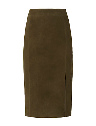 Exclusive for Intermix Dana Suede Skirt