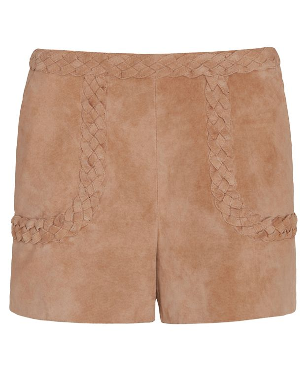 Exclusive for Intermix Julius Braided Detail Suede Shorts