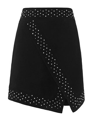 Roxanne Studded Suede Skirt