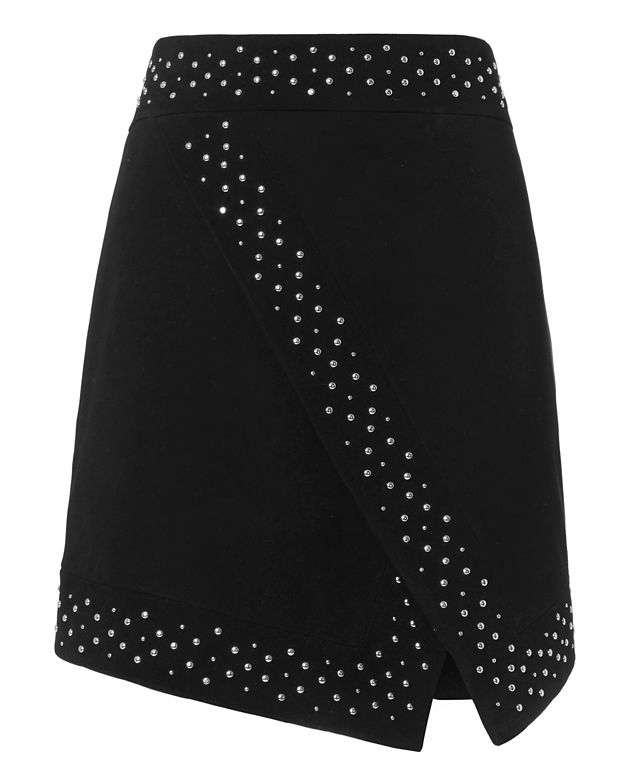 Exclusive for Intermix Roxanne Studded Suede Skirt