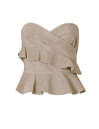 Exclusive for Intermix Nora Suede Strapless Top